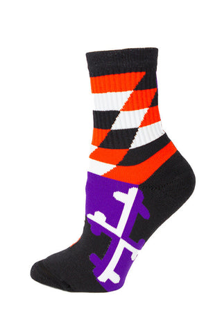 MD Flag Baltimore Pride Calf Sock - Annapolis Gear
