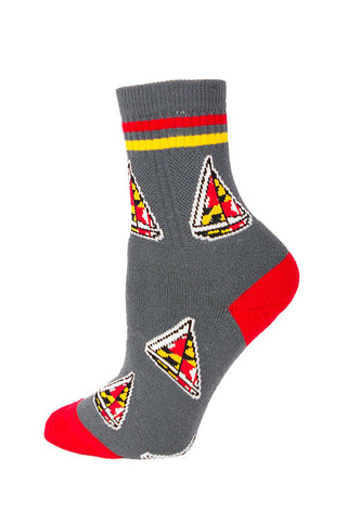 MD Flag Sailboat Calf Sock - Annapolis Gear