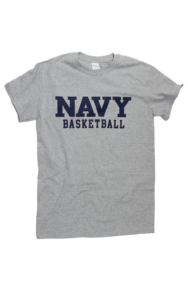 Block NAVY Basketball T-Shirt (grey) - Annapolis Gear