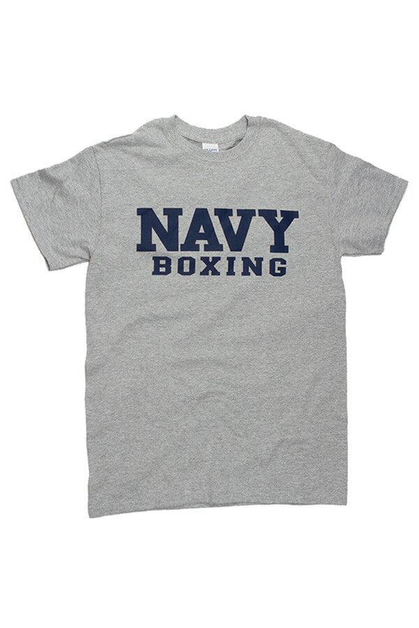 Block NAVY Boxing T-Shirt (grey) - Annapolis Gear