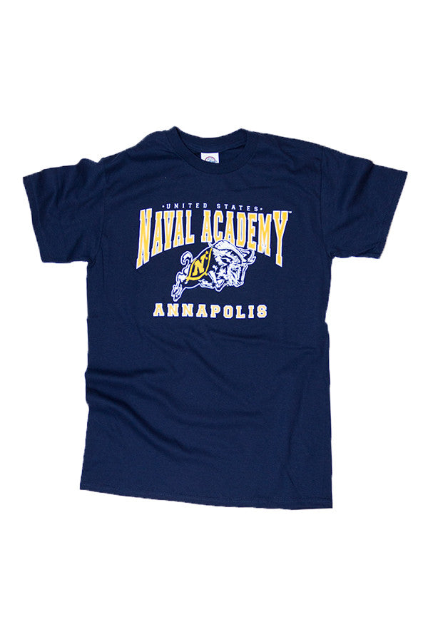 USNA Jumping Goat Annapolis T-Shirt (navy) - Annapolis Gear