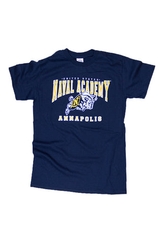 KIDS USNA Jumping Goat Annapolis T-Shirt (navy) - Annapolis Gear
