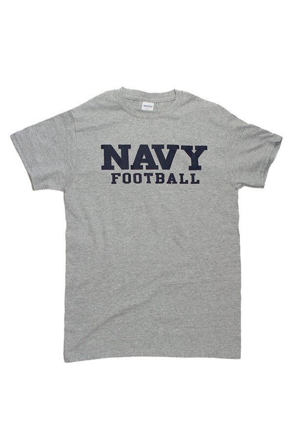 Block NAVY Football T-Shirt (grey) - Annapolis Gear