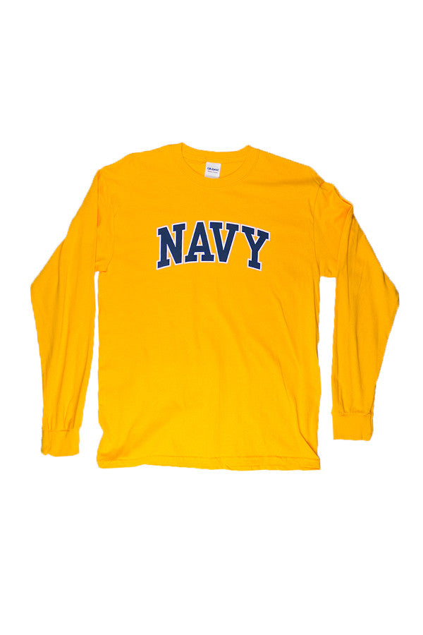 NAVY Arch Long Sleeve T-Shirt (gold) - Annapolis Gear