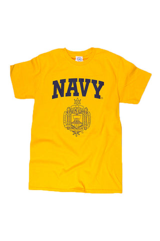 KIDS USNA Crest T-Shirt (gold) - Annapolis Gear