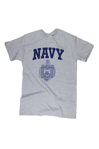 KIDS USNA Crest T-Shirt (grey) - Annapolis Gear