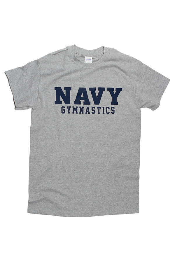 Block NAVY Gymnastics T-Shirt (grey) - Annapolis Gear