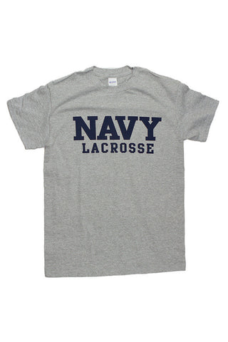 Block NAVY Lacrosse T-Shirt (grey) - Annapolis Gear