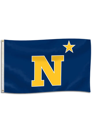 USNA N-Star EMBROIDERED Flag (3'x5') - Annapolis Gear