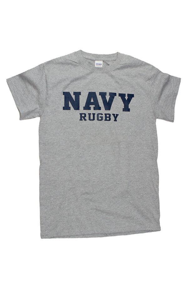Block NAVY Rugby T-Shirt (grey) - Annapolis Gear
