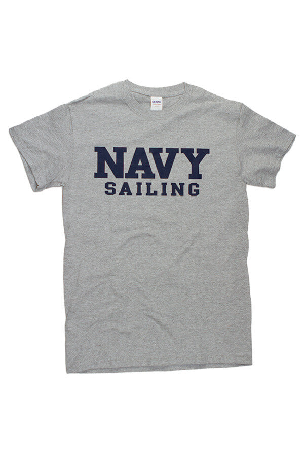 Block NAVY Sailing T-Shirt (grey) - Annapolis Gear
