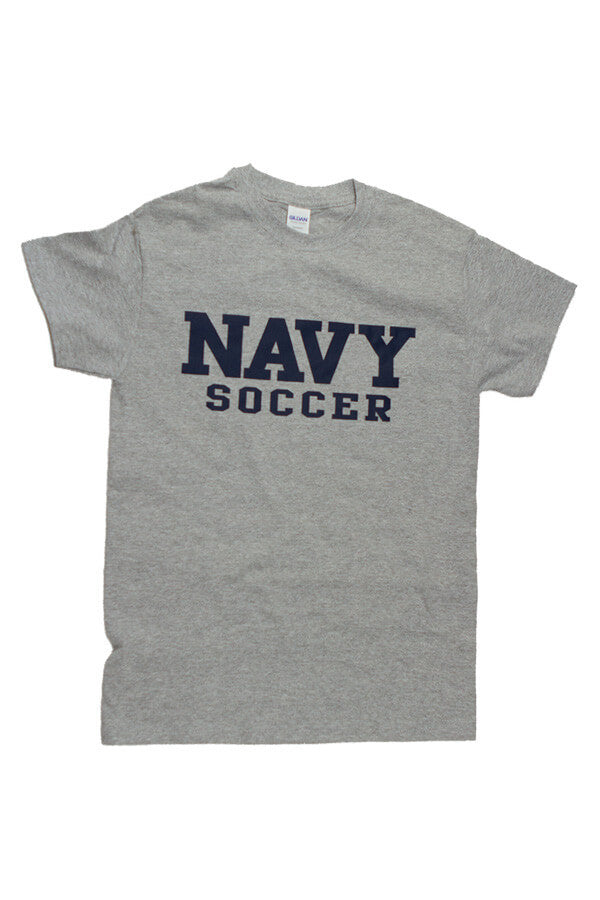 Block NAVY Soccer T-Shirt (grey) - Annapolis Gear