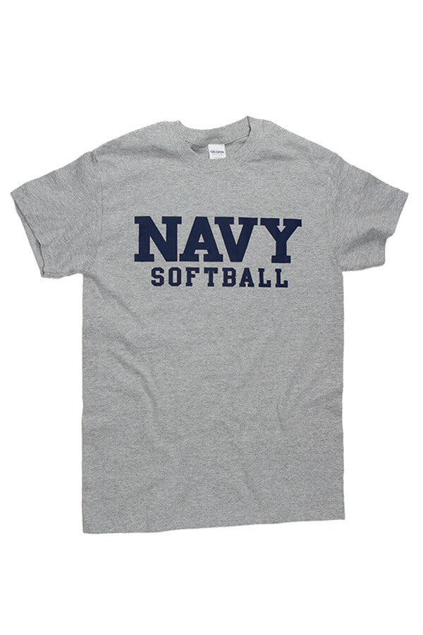 Block NAVY Softball T-Shirt (grey) - Annapolis Gear