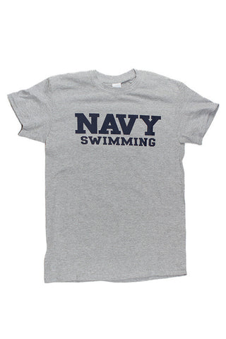 Block NAVY Swimming T-Shirt (grey) - Annapolis Gear