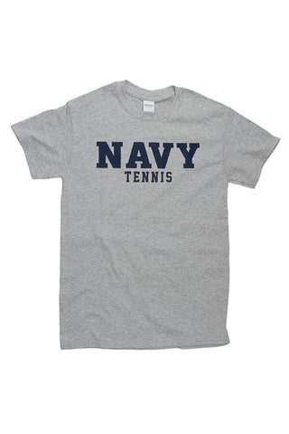 Block NAVY Tennis T-Shirt (grey) - Annapolis Gear