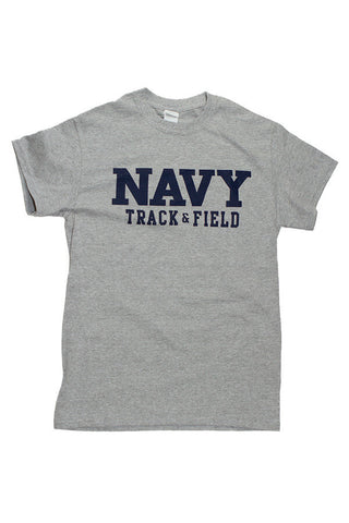 Block NAVY Track & Field T-Shirt (grey) - Annapolis Gear