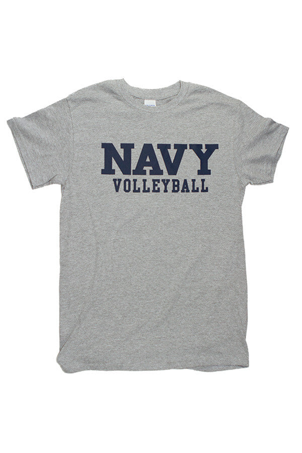 Block NAVY Volleyball T-Shirt (grey) - Annapolis Gear