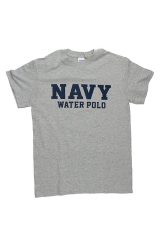 Block NAVY Water Polo T-Shirt (grey) - Annapolis Gear
