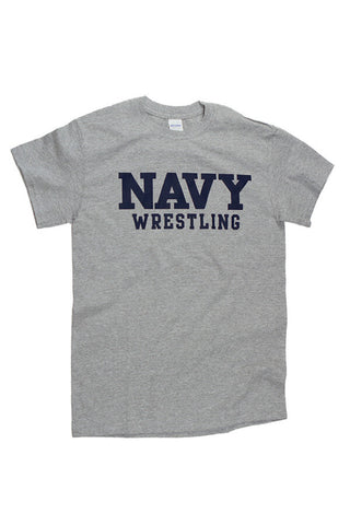 Block NAVY Wrestling T-Shirt (grey) - Annapolis Gear