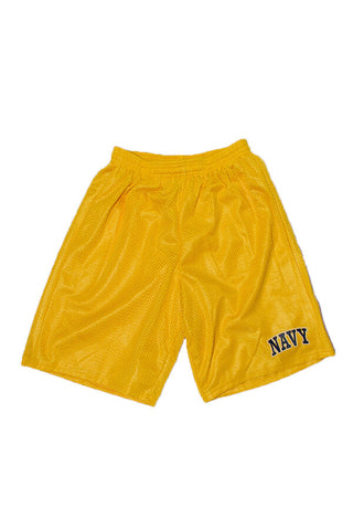 KIDS NAVY Mesh Shorts (gold) - Annapolis Gear