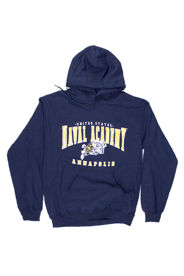 USNA Jumping Goat Annapolis Hooded Sweatshirt (navy) - Annapolis Gear
