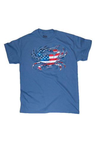 MD Pride USA Ripped Crab T-Shirt - Annapolis Gear