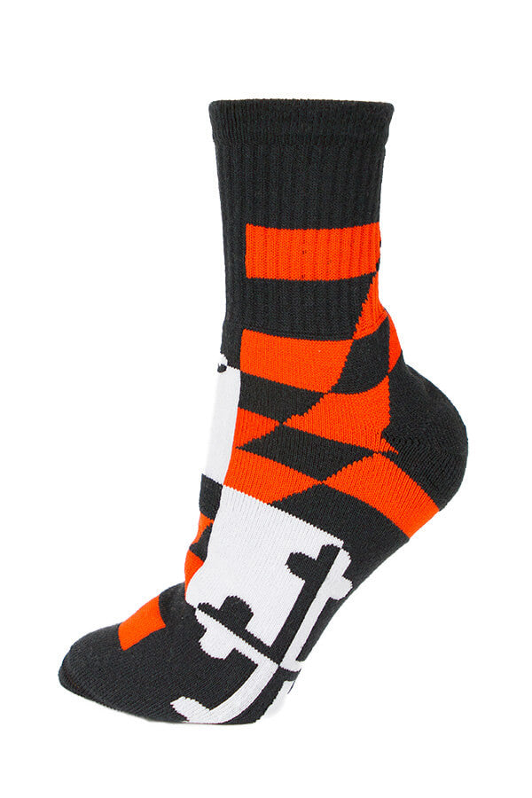 MD Flag Baltimore Baseball Calf Sock - Annapolis Gear