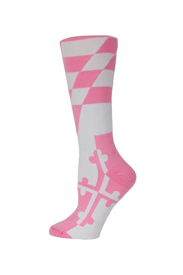 MD Flag Pink Knee High Sock - Annapolis Gear