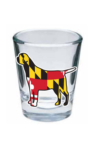 MD Flag Labrador Shot Glass - Annapolis Gear