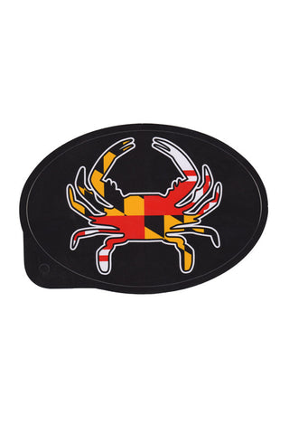 Oval MD Flag Crab Decal - Annapolis Gear