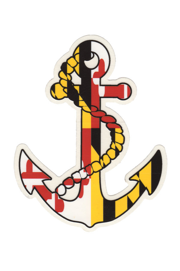 Md flag anchor decal annapolis gear