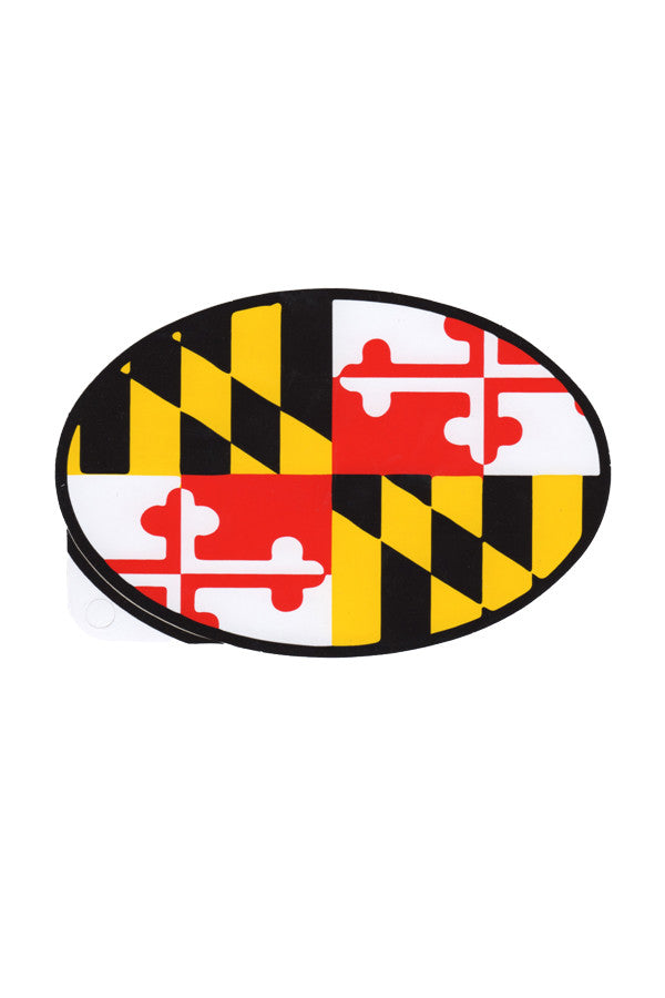 Oval MD Flag Decal - Annapolis Gear