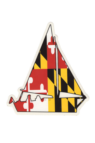 MD Flag Sailboat Decal - Annapolis Gear