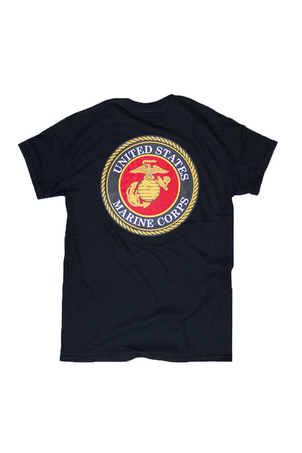 U.S. MARINES Seal T-Shirt (black) - Annapolis Gear