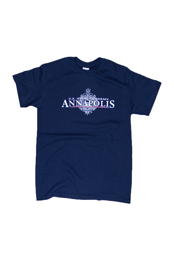 USNA Crest Annapolis T-Shirt (navy) - Annapolis Gear