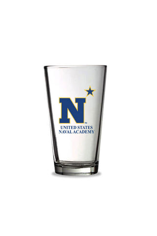 USNA N Star Pint Glass - Annapolis Gear