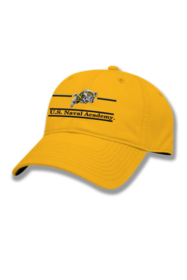 USNA Charging Goat Hat (gold) - Annapolis Gear