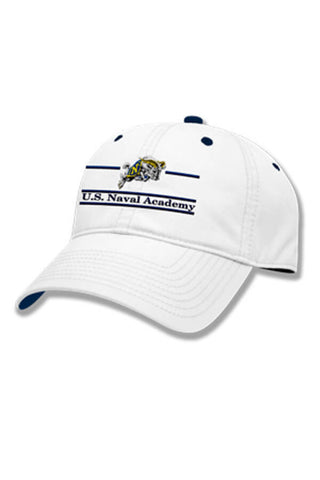 USNA Charging Goat Hat (white) - Annapolis Gear