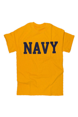 NAVY Block T-Shirt (gold) - Annapolis Gear