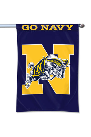 "JUMPING GOAT ""GO NAVY"" Home Banner (40""x28"")"