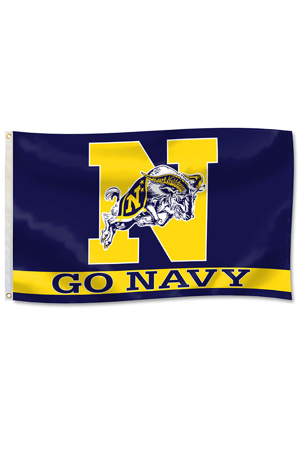 "JUMPING GOAT ""GO NAVY"" Flag (3'x5')"