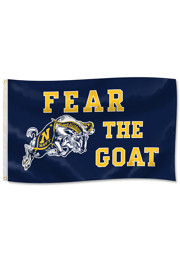 USNA FEAR THE GOAT Flag (3'x5')