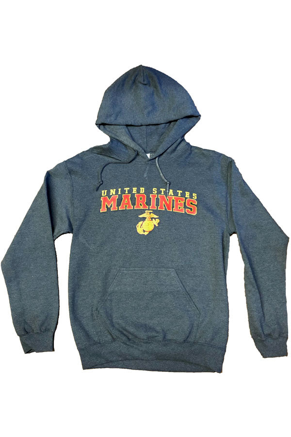 U.S. MARINES G&A Hooded Sweatshirt (dark heather)
