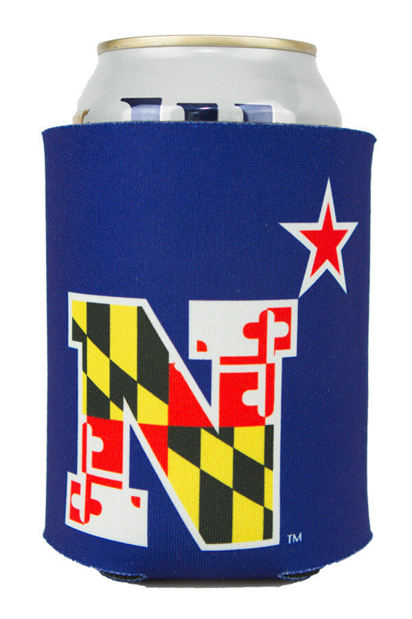 USNA MD Flag N-Star Can Koozie (navy) - Annapolis Gear