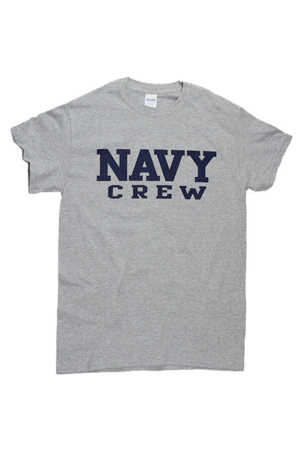 Block NAVY Crew T-Shirt (grey) - Annapolis Gear