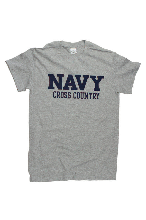 Block NAVY Cross Country T-Shirt (grey) - Annapolis Gear