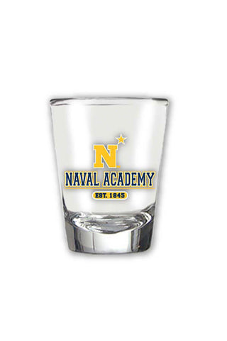 USNA N-Star Est. 1845 Shot Glass - Annapolis Gear