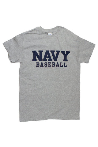 Block NAVY Baseball T-Shirt (grey) - Annapolis Gear