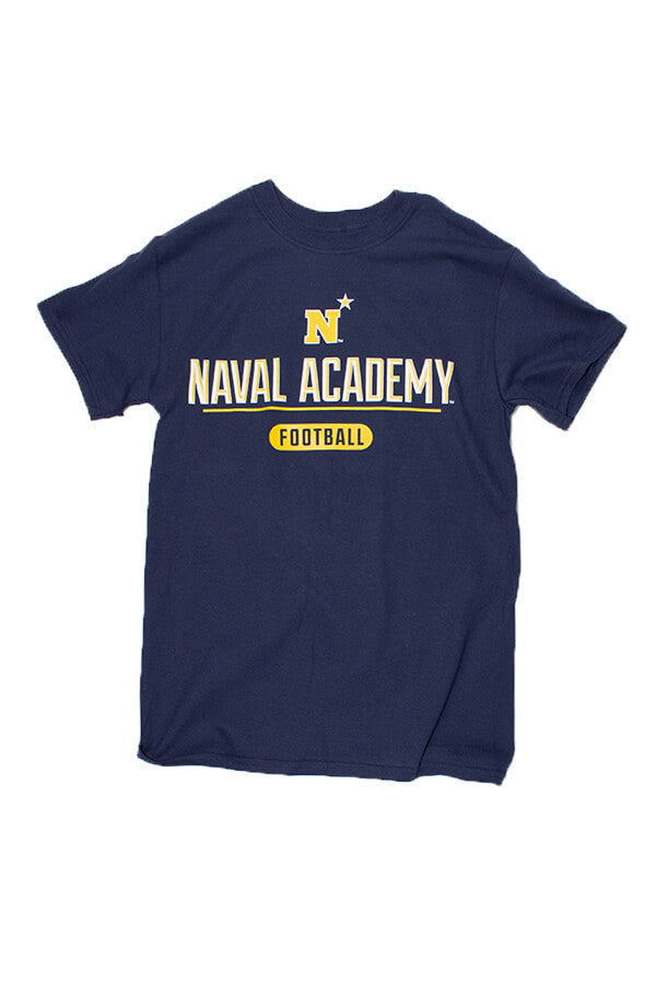 KIDS USNA N-Star NAVY Football T-Shirt (navy) – Annapolis Gear 9a1d82e29066