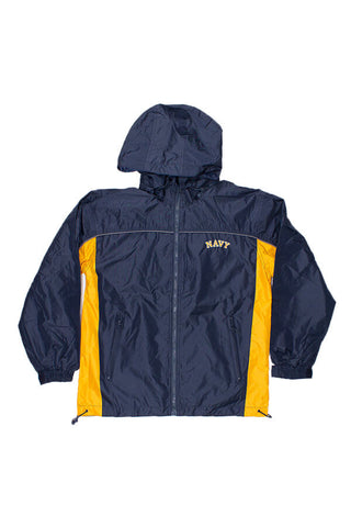 NAVY Windbreaker Jacket (navy/gold) - Annapolis Gear